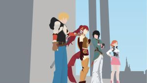 RWBY-Team JNPR by xXevilbugXx