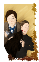 SH+XMFC: Mycroft, Winnie, Erik by SarlyneART