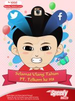 Speedy Instan Card Design by dicky10official