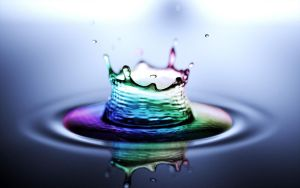 Rainbow Water Splash by christara