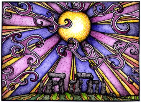Funky Henge ACEO by TapWaterTaffy