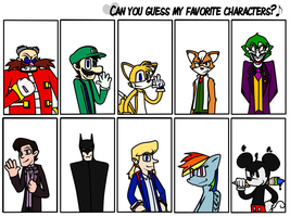 Can you guess my favourite characters? by DrJoshfox