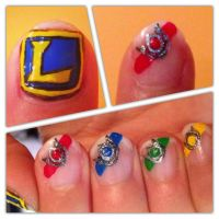 League of Legends Honor Ribbons - Nail Art by crazyselphie