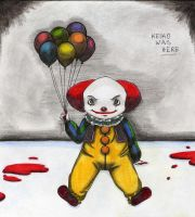 pennywise, the dancing clown by KeikoWasHere