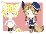 [CLOSED] - SunShine Neko, Foxy Navy { REDUCED } by PokeCardz