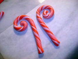 Candy Cane Gauges by monsterkookies