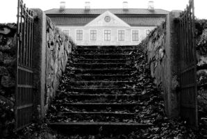 autum stairs to castle by macgl