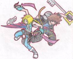 Sora and Zidane by Finalbladeyuking13
