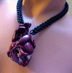 Giant Human Heart Necklace by Divulged