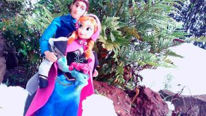 Anna and Hans in the Winter by violetatranceart