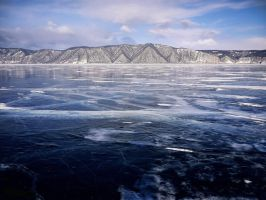 background - lake baikal ice by 8moments