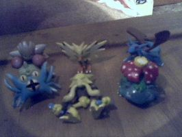 My Pokemon Team as Figures by Salem-the-Psychic