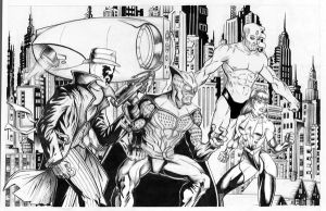 Watchmen Black and white by CamT