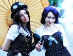 Steampunk Lady on date with Senjougahara by emmagucci