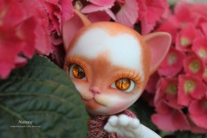Nutmeg is finally finished (BJD hujoo Freya) by GoldenDiamonds