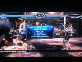 Soul Calibur V, My 2 Custom Character Vs Patroklos by LightTheDragon19