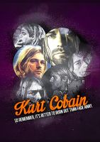 Kurt Cobain Poster by leavedesign