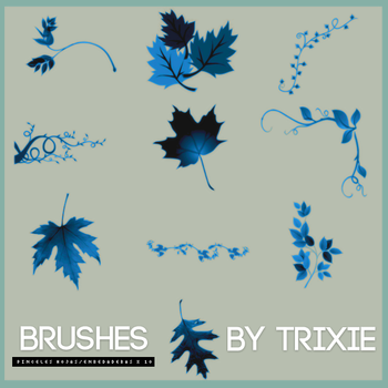 Brushes hojas/enredaderas by Trixie by ShinningButterfly