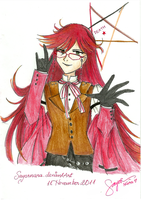 Passionate Red - my very first Grell by Sayornara
