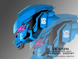 Mecha Head Concept: Lexion by bcetin