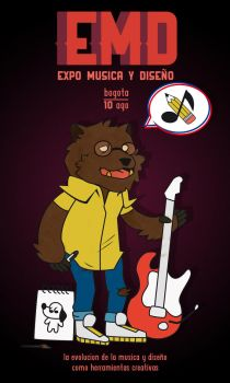 Hipster Bear by Chutoski