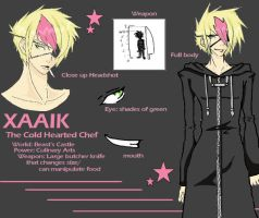 +Xaaik - The Cold Hearted Chef by Kaikuu