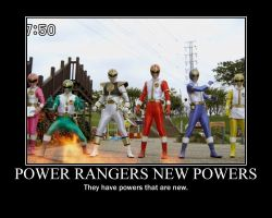 Power Rangers New Powers motivational poster by DevilnekoX