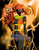 Power Rangers Ultimate - Stego Ranger Orange by Chibi-Warmonger