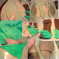 Leafeon Cosplay Progress by Squeeblez
