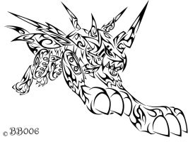 Tribal Raidramon by blackbutterfly006