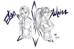 Elsa and Weiss by A-SgtMichaels
