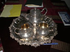 Vintage Silver Tea Set by cerulean-stock
