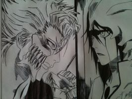 Ulquiorra and Grimmjow by UlquiorraWorshiper