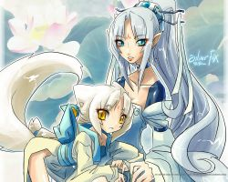 SilverFoxes Wallpaper1280x1024 by ZiyoLing
