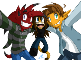 CommiSmall - Milo, S-Z and J-Rum by ShinyZango