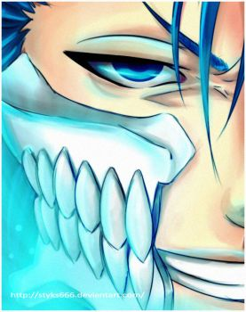 grimmjow color practice by Styks666