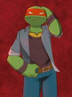 Raph in clothes by RednBlackDevil