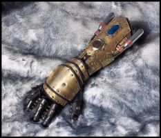 Steampunk Gauntlet - Pneumatic Battle Fist by SteamViking
