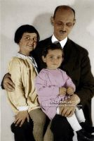 Otto Frank, Margot and Anne by VelkokneznaMaria