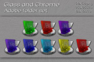 glass and chrome adobe folders by xylomon