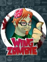 Wing Zombie Mascot Design by LanotDesign