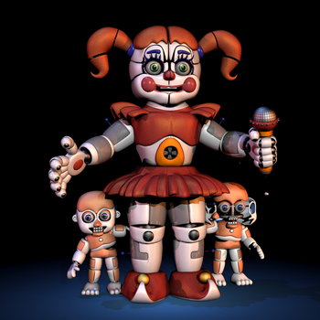 Baby V7  Extra Image- FNaF SL Blender by ChuizaProductions