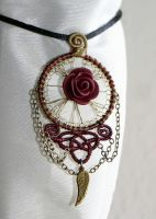 kind of art nouveau pendant by zebrrra