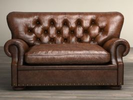 Rh 5 Churchill Leather Sofa 2 by DimitarKatsarov