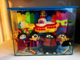 The Beatles Yellow Submarine Plushies by cabrini-starr