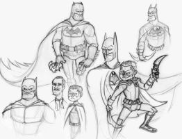 Batman Reborn Sketches by Hen-Hen