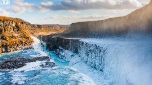 winter gullfoss by RaumKraehe