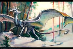 Through the forest by Silverbloodwolf98