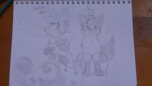 alpha and deputy doodle by crystalwolfahlpa50