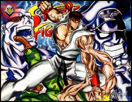 Evil Ryu by CarbertArtwork
